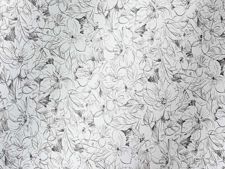 Cordoba Flowers schwarz/weiss 016256